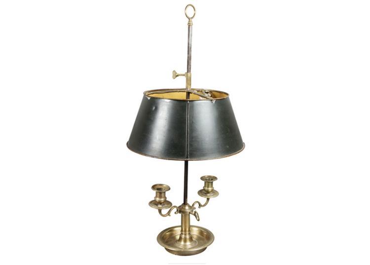 Louis XVI Bronze Bouillotte Lamp
