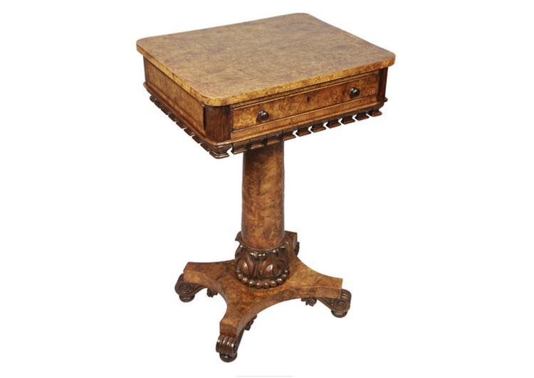 Regency Pollard Oak And Carved Table