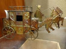 Old West Wagon and Horses Music Box