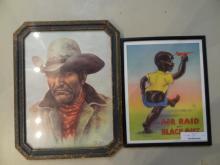 1pc Cowboy Print,1pc