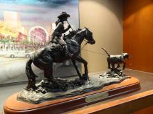Record Breaker Statue By Montana Silver Smith Signed