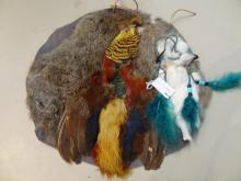 Leather, Fur and Feather Wall Hanging