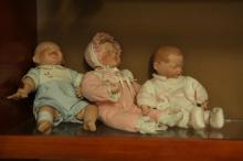 3 Baby Porcelain Dolls