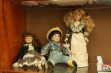 2 Girls & 1 Boy Baby Porcelain