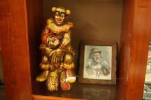 1968 Progressive Arts Clown Statue w/Clown Picture