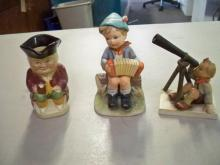 3 Pc. Hummel,Toby Mug, and Music boy Statue