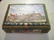 German W Otto Tin Box Schmidt w/Wood Windmill