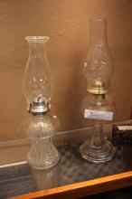 2 Pc. Glass Oil Lamps