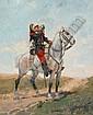 Georges HYON (1855-?) « Hussard à cheval » Huile, Georges Louis Hyon, Click for value