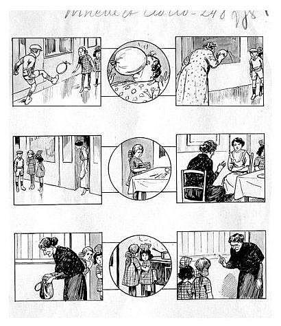 GALLAND André. (1886-1965) « Ninette et Cloclo ».
