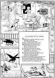 RABIER Benjamin (1864-1939) « Le Bouvreuil et le
