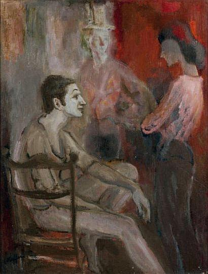 Charles KIFFER (1902-1992)« Avant le spectacle »