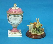 A Spode porcelain Royal commemorative pot pourri