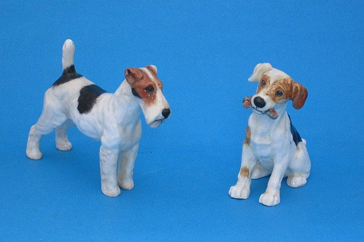 A Royal Doulton model of a Rough Haired Terrier