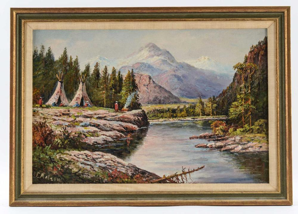 Frederick Matzow: Landscape w. Encampment