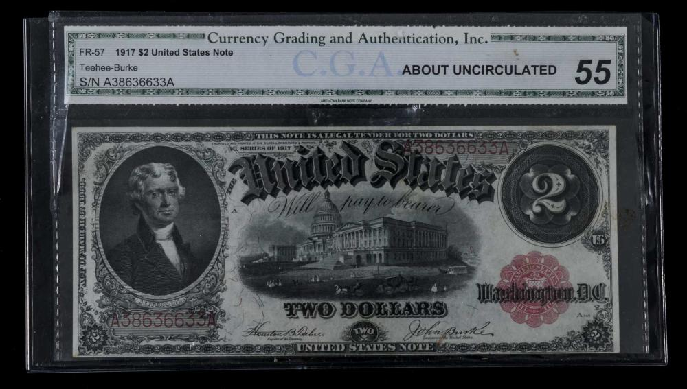 United States Legal Tender $2 Note