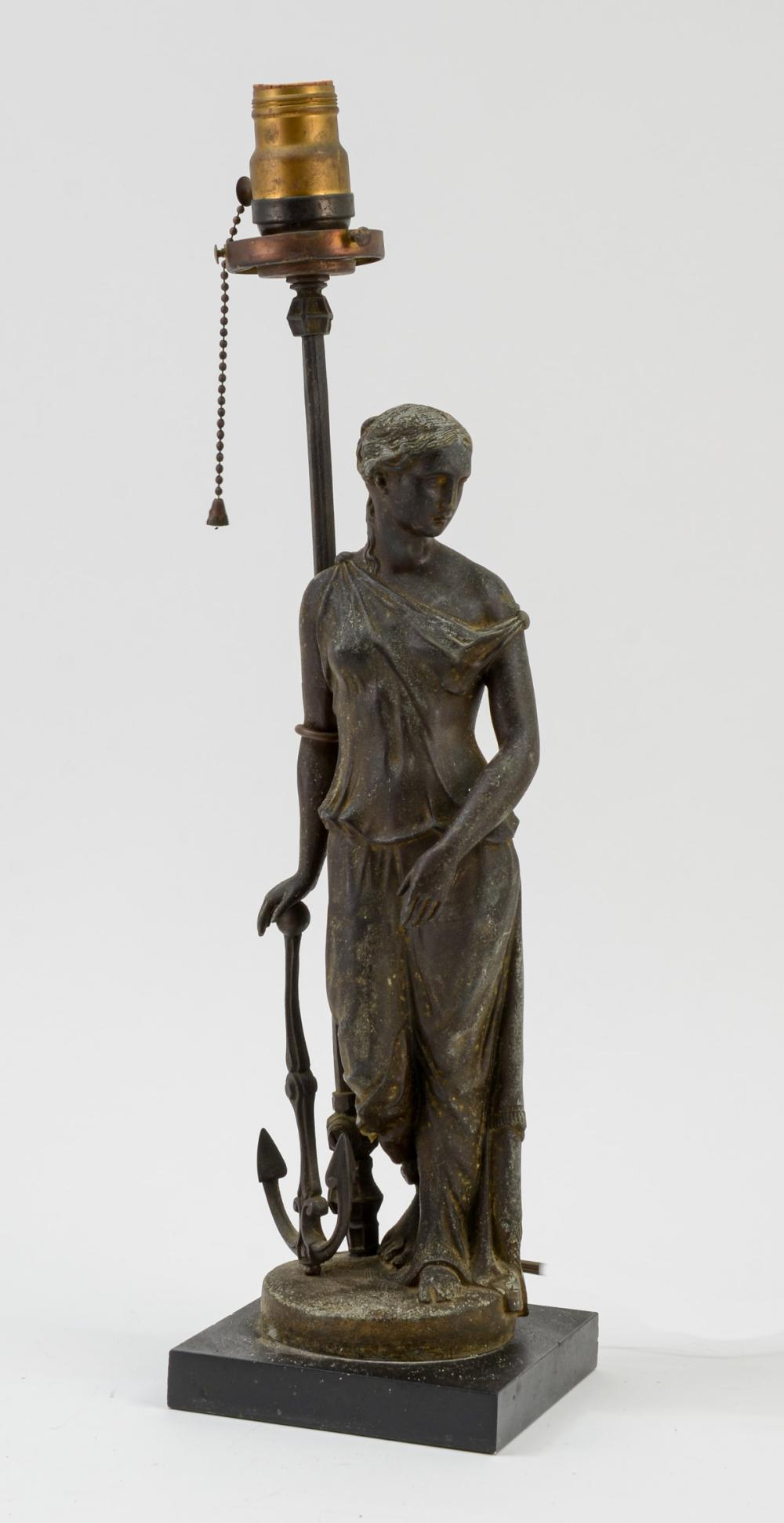 Figural Newel Post Lamp