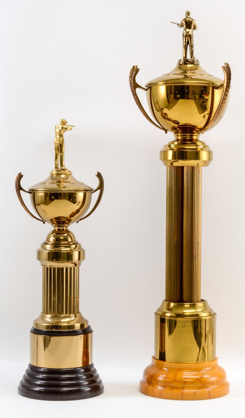 Two Vintage Bakelite Shooting Trophies