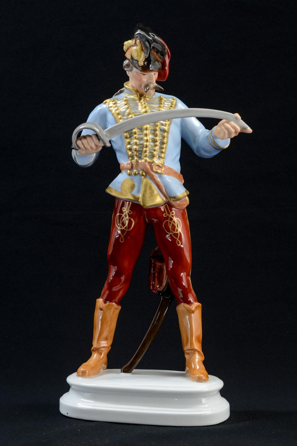 Herend Hussar Porcelain Figurine