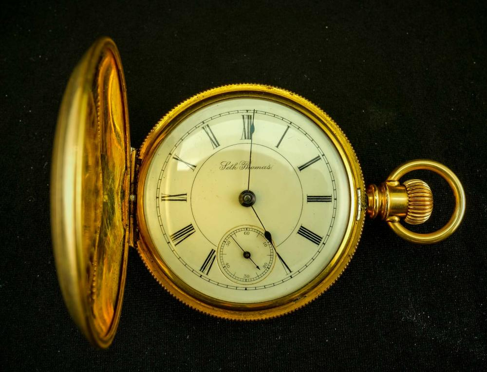 Seth Thomas Hunter Case Pocket Watch