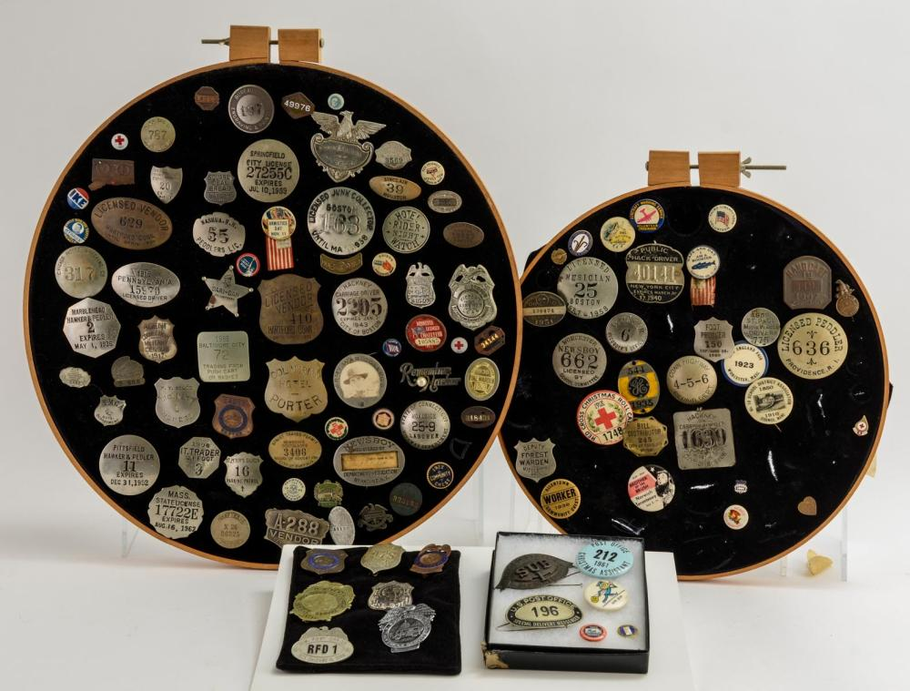 Estate Collection of Pins and Badges