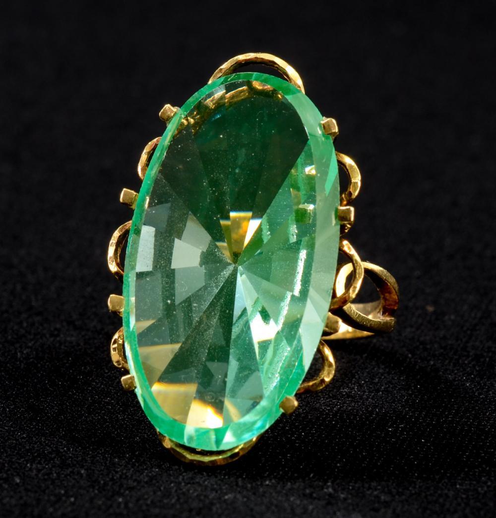 Ladies Vintage French Gemstone Ring