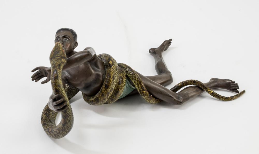 Cold painted Vienna Bronze Figure