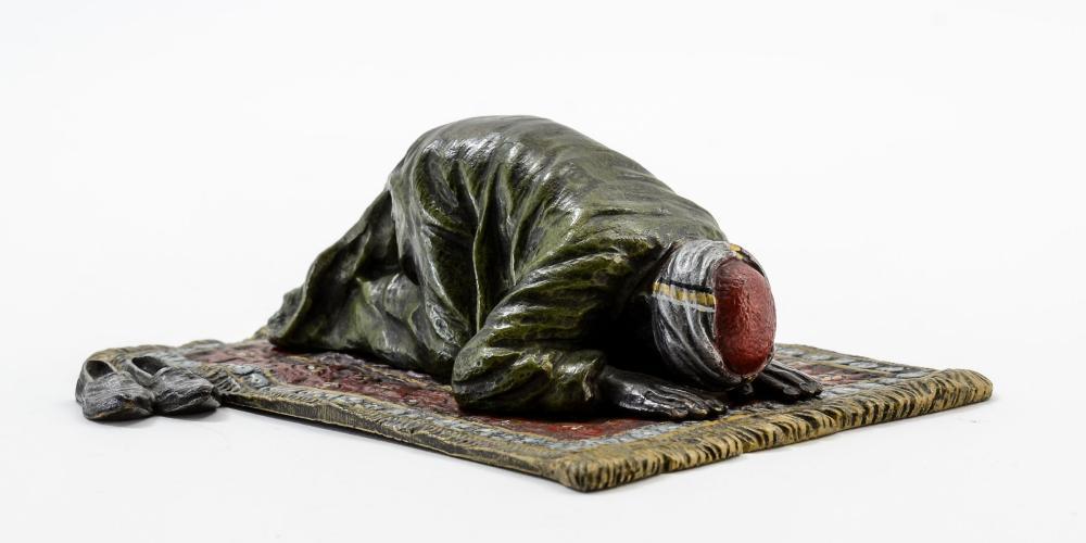 Franz Bergman Bronze: Man Praying