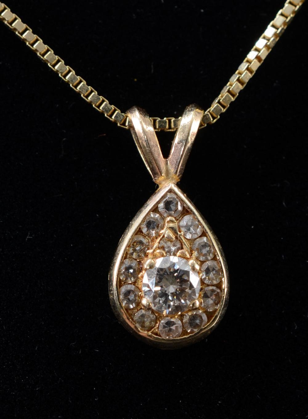 Ladies 14K Diamond Pendant