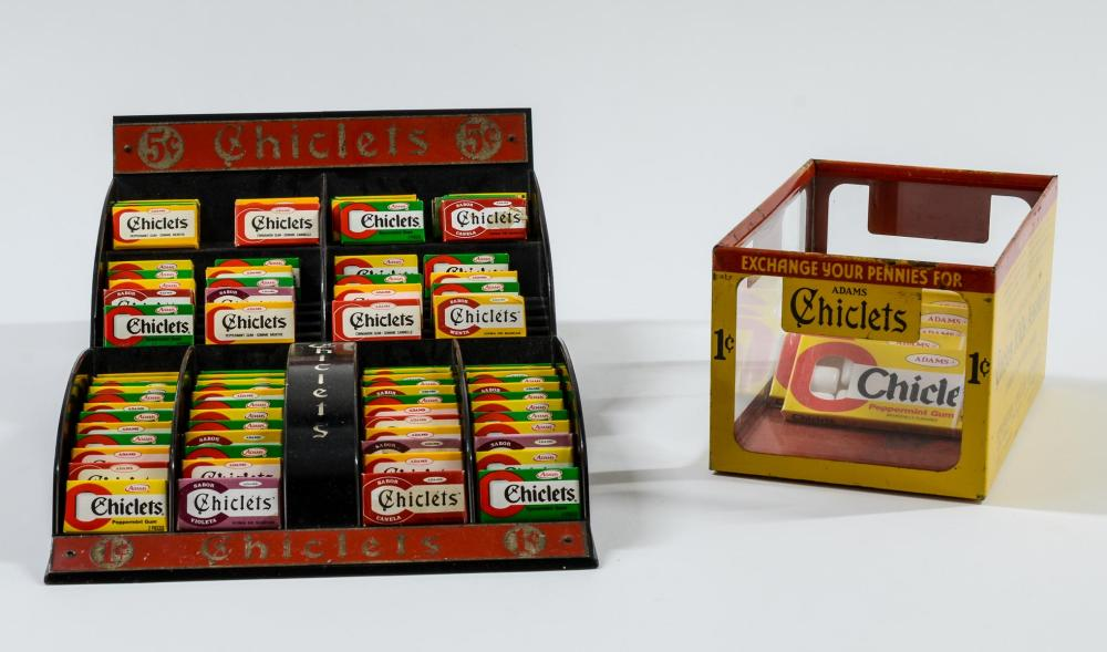 2 Chiclets Gum Countertop Displays