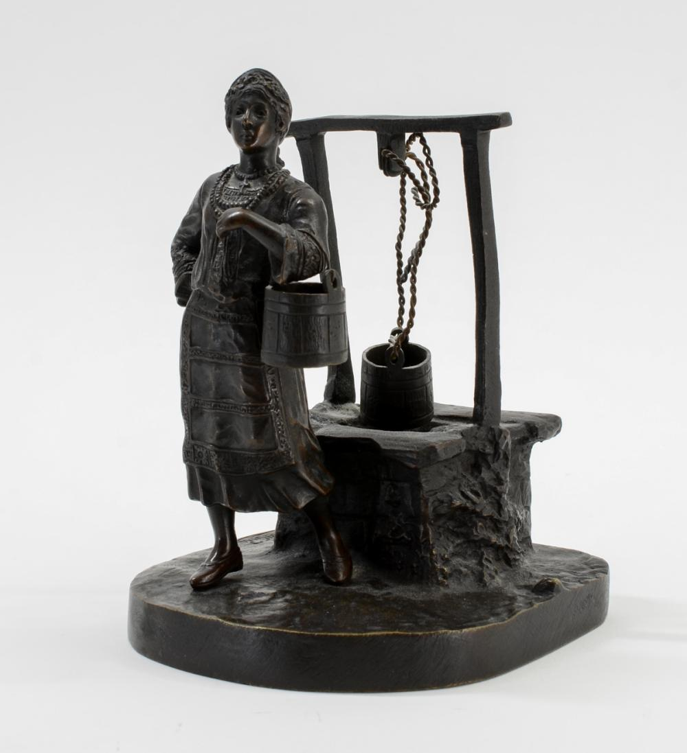 Russian Bronze: Woman at Well