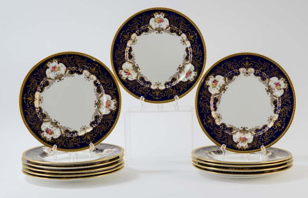 Coalport Plates for Ovington Brothers