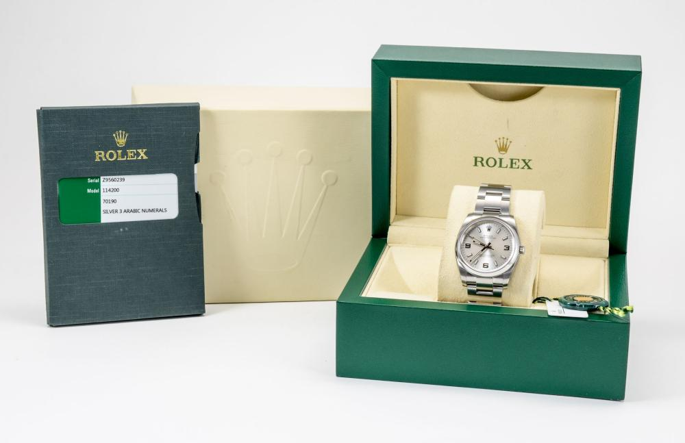 Rolex Oyster Perpetual Stainless Wrist Watch