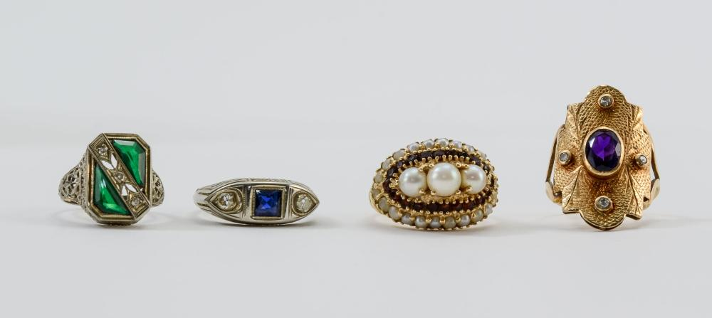 Group of Fine Estate Rings