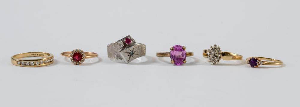 Six Ladies Estate Rings