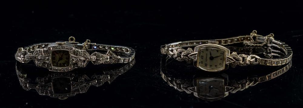 Two Ladies Estate Diamond Wrist Watches