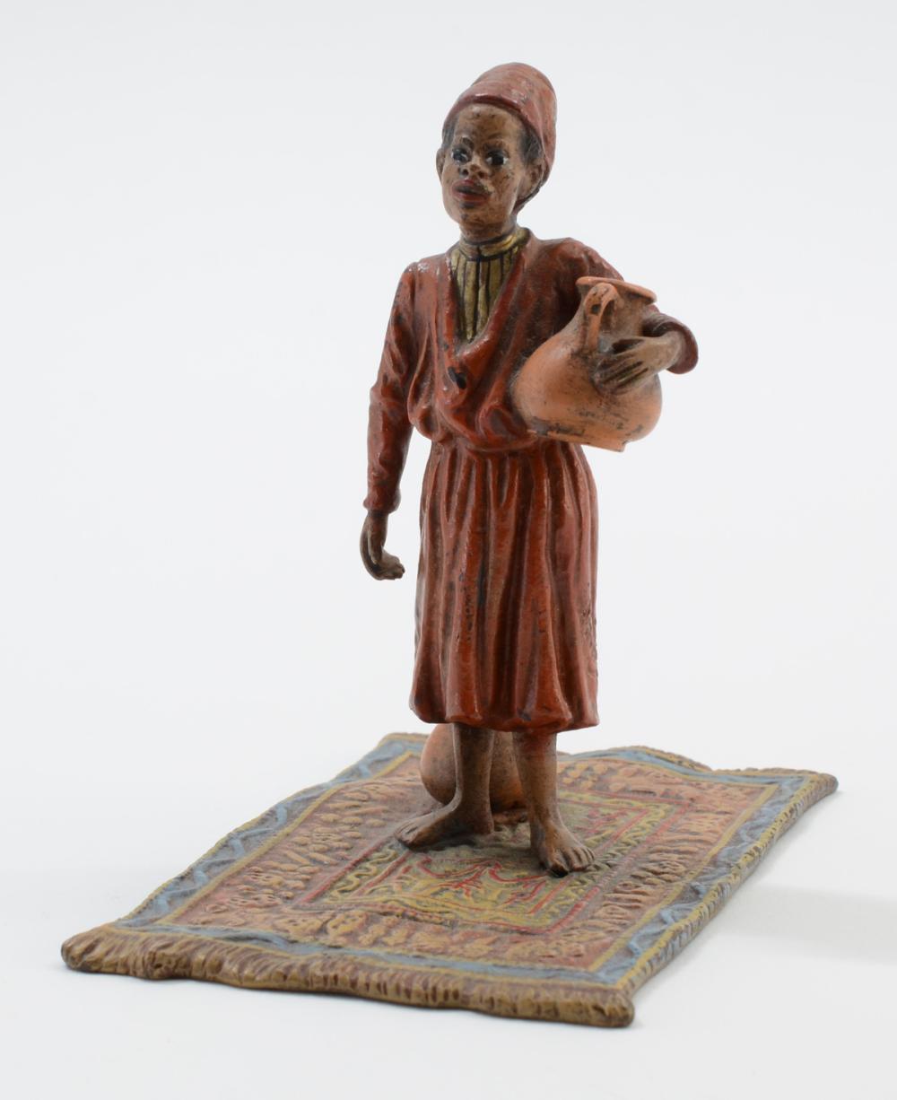 Orientalist Cold Painted Bronze