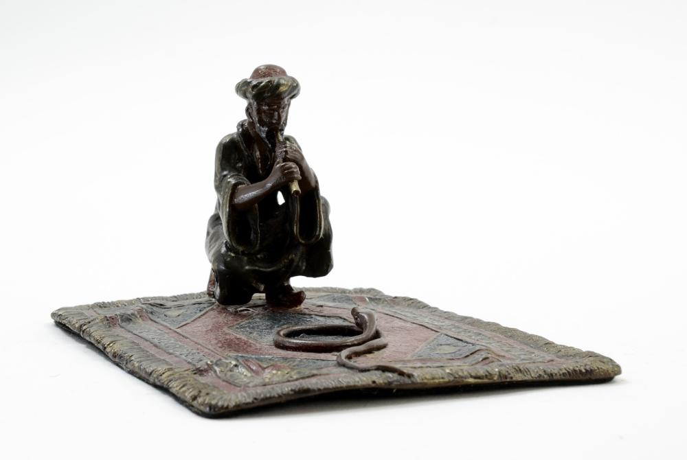 Vienna Bronze Snake Charmer