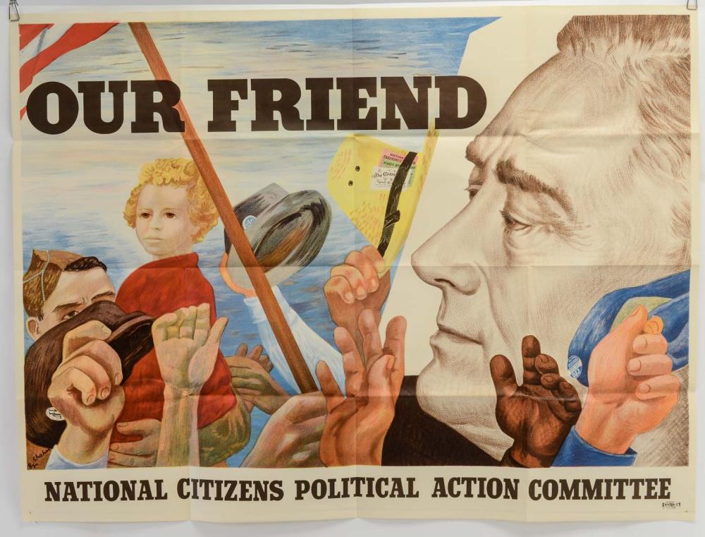 Ben Shahn: Our Friend FDR Poster