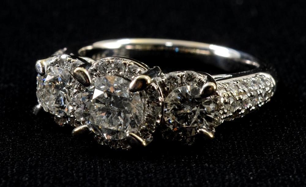 Ladies 14k WG Diamond Engagement Ring