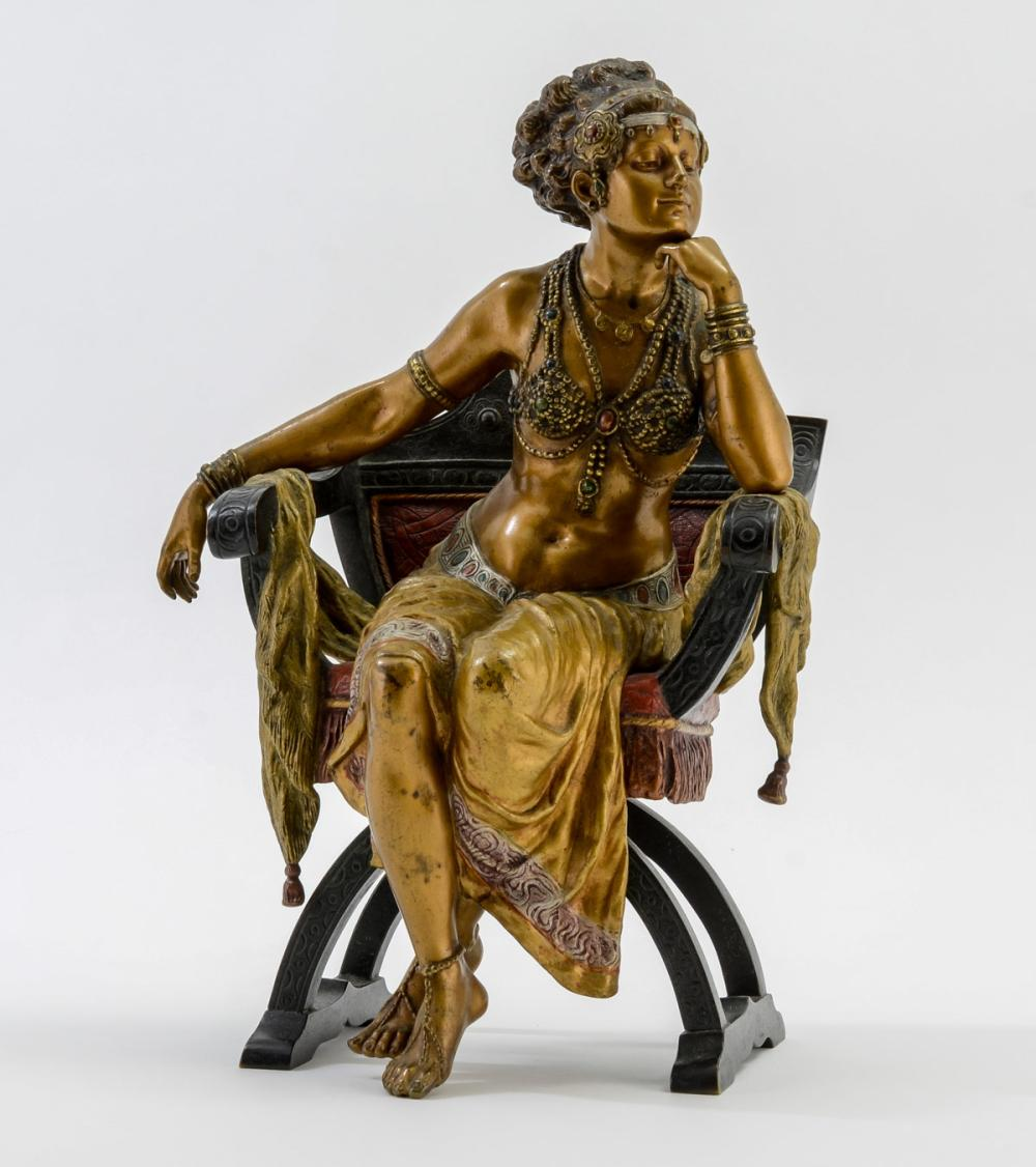 Austrian Cold Painted Bronze: Seated Dancer