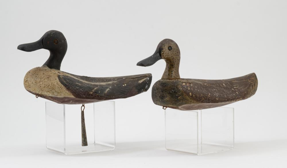Two Early Working Duck Decoys
