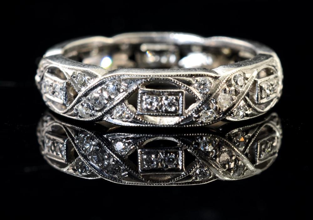 Ladies Platinum and Diamond Wedding Band