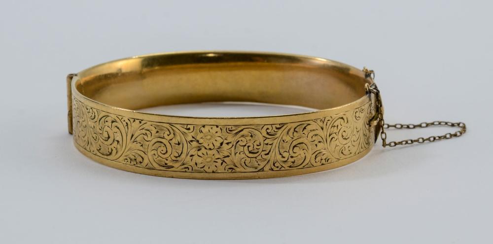 9K Victorian Gold Cuff Bracelet