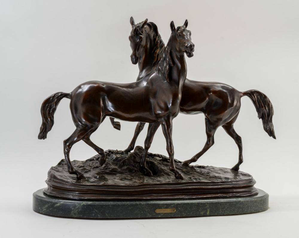 After Pierre Jules Mene: Bronze Horses