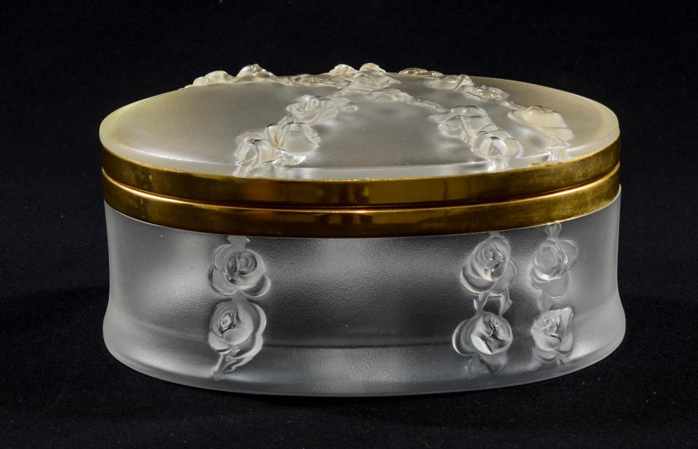 Lalique Crystal Dresser Box: Coppelia