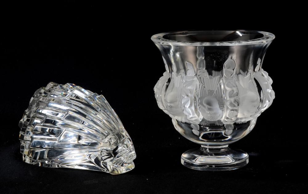 Two Pcs French Crystal