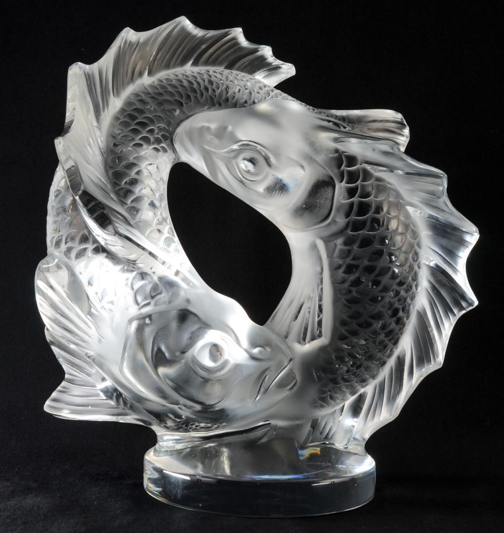Lalique Crystal: Deux Poissons