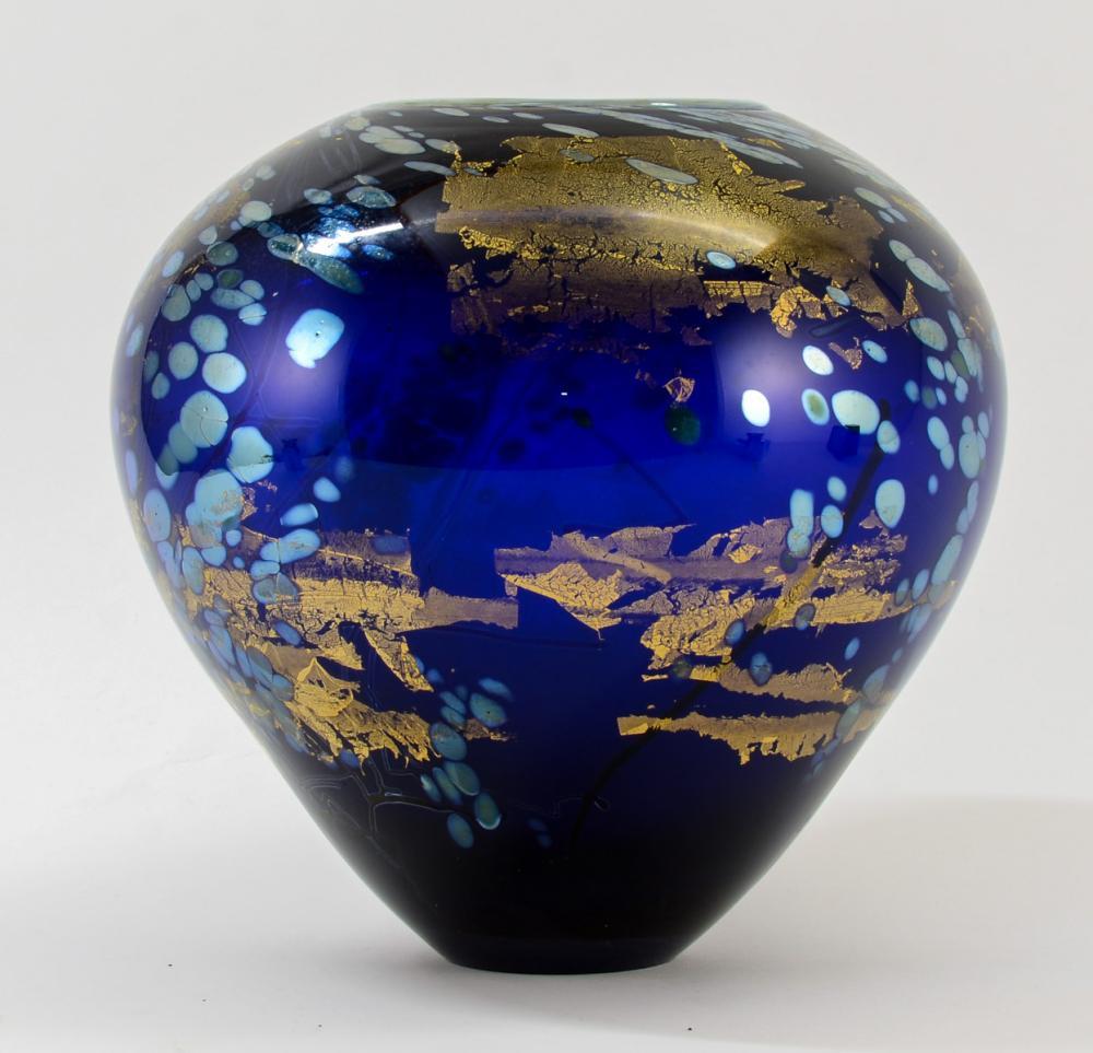 Tim Lazer Art Glass Vase