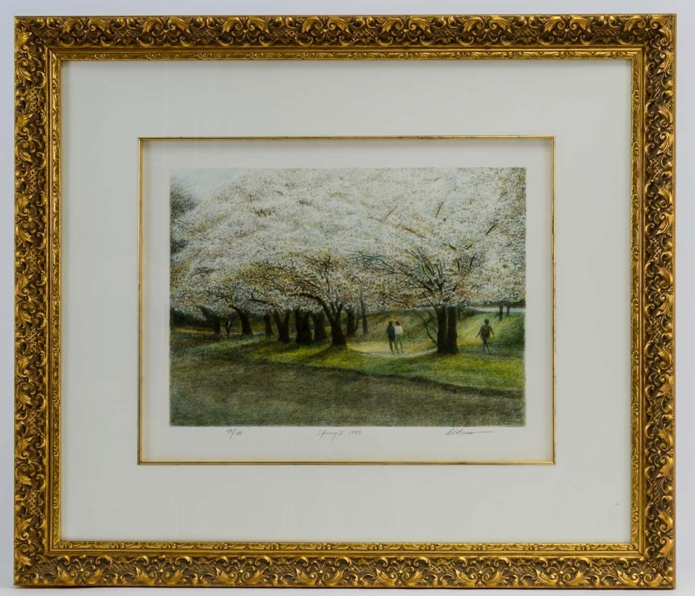 Harold Altman Lithograph: Spring II 1993